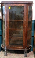 Antique Curved Front Curio