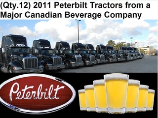 Internet Bidding Only Auction - (Qty. 12) 2011 Peterbilt 386 & 388 6x4 Trucks / Tractors, Day-Cabs