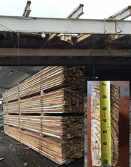 Available Now!- Salvaged Structural Steel I & H Beams, #2 Heart Pine Wood Decking Salvaged from a +300,000 Sq Ft Building