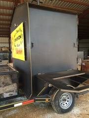 Smoker Trailer #3: Custom-Built Bumper Pull Smoker-Large Capacity Smoker Box.