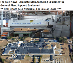 Available Now!- Equipment Formerly of Nevamar a Laminate Manufacturer of Counter Tops, Furniture, Bowling Lanes, etc.