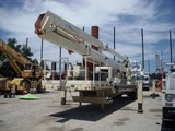 1982 Trailer Mounted 125' Bucket Truck with Material Handling Jib
