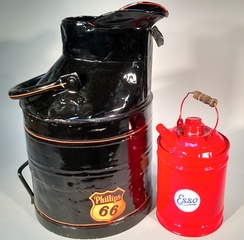 Antique Painted Gas Can and Oil Can