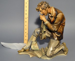 Antonio Borsato 'Man with Violin' Statue