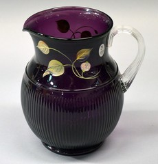 Amethyst Fenton Hand-Painted Pitcher