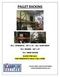 FOR SALE --- PALLET RACKING