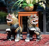 PRIVATE ASIAN COLLECTION AUCTION; LARGE FOO DOGS, FINE PORCELAIN, INK PAINTING SCROLLS, JADE STATUES & MORE!