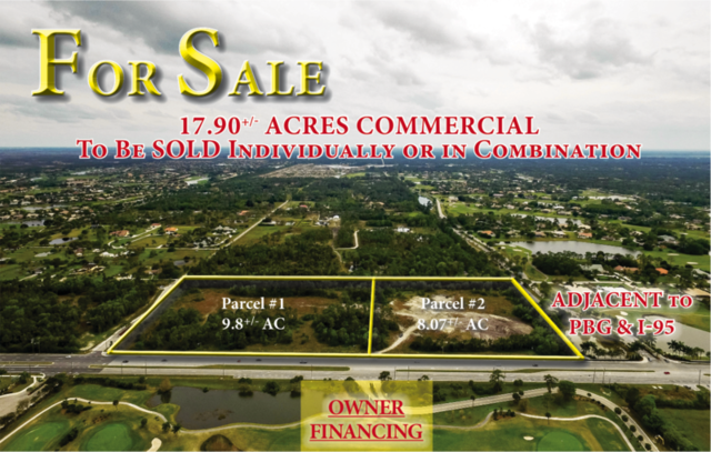 FOR SALE:  17.90+/- Acres Commercial in Palm Beach Gardens