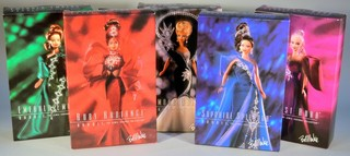 """The Jewel Essence Collection"" Bob Mackie Barbies"