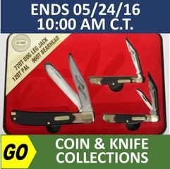 ONLINE ONLY ABSOLUTE AUCTION - Coins - Knives