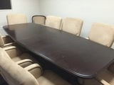 FOR SALE --- CONFERENCE TABLE AND CHAIRS - RECEPTION STATION