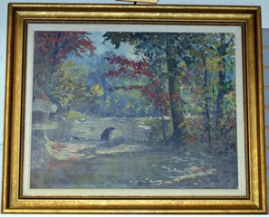 Francis Clark Brown Original Oil Painting