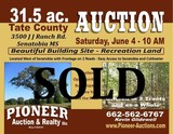 Tate County - Senatobia - 31 1/2 ac. - Beautifull Home Site - Wooded land Offered in 2 tracts