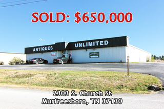 12,000 +/- SF Metal Building and Antiques Business at Exit 81 of I-24 in Murfreesboro, TN