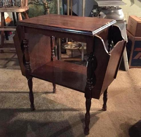 Small Magazine Rack Side Table · Antique ...