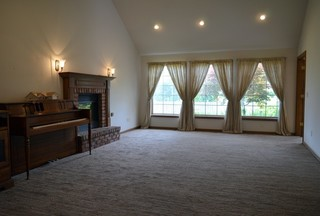 Large Living Room with Cathedral Ceilings & Fireplace