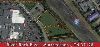 2.75 +/- AC Lot zoned Commercial Highway near I-24 in Murfreesboro, TN