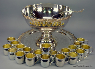 F. B. Rogers Silverplate Punchbowl
