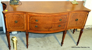 Beautiful Inlaid Serpentine-front Buffet