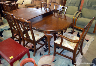 Ethan Allen Dining Table & 6 Chairs