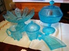 Rare blue EAPG - several pieces: