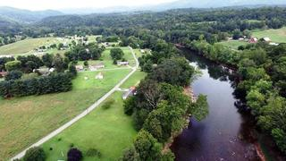 Aerial view of the Lacy & Wickline River Homes