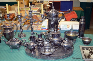Large Selection of Silverplate Serving Pieces