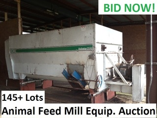 Internet Bidding Only Auction- Surplus Equipment from Ongoing Operations a Major Feed Mill