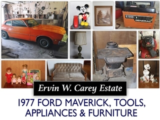 North KC Estate Auction: 1977 Ford Maverick, Shop Tools, & More