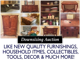 Estate Auction: Traditional Contemporary Household Downsizing Auction