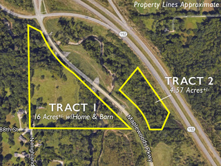 Absolute Land Auction: 20 Acres in Two Tracts   Kansas City North