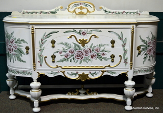 Ornate Handpainted Buffet