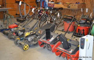 Mowers, Blowers, Bicycles, & Tools