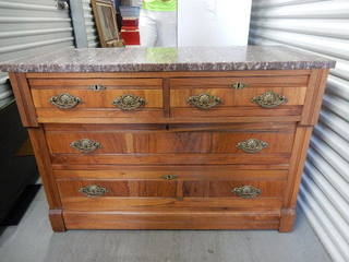 Antique Marble Top Chest