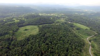 Aerial view of the Ruth Huffman Farm