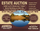 Tate County MS - 28.5 ac. Rolling Pasture Land - 2 1/2 ac. Lake - 2000 sq ft 2 Br 1 BA Metal Building - Personal Property