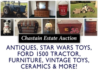 Kearney Estate Auction: Antiques, Ford 1500 Tractor, Furniture, Vintage Toys & More