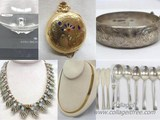 STERLING SILVER, GOLD, JEWELRY AND CRYSTAL