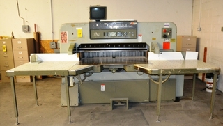 "Polar Mohr 54"" Power Paper Cutter, Model 137EMC-Mon, S/N 6341217, Airt Tables Throughout, Eletric Eye"
