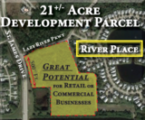 ABSOLUTE AUCTION of 21+/- Commercial Development Acres at River Place