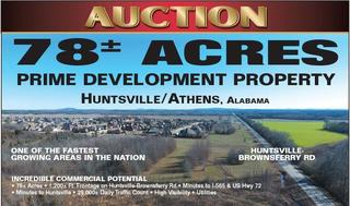 78 +/- Acre Tract Huntsville-Brownsferry Rd. Auction March 21st.