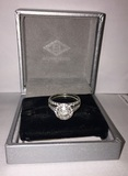 Timed Online Only Auction: Wedding / Engagement Ring Set from Borsheims & Matching Gold/Diamond Earrings & Necklace
