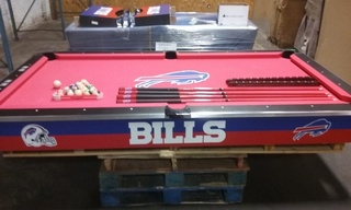 Online Auction ONLY - Buffalo Bills Pool Table