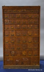Antique 54-Drawer Index File