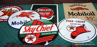 Enameld & Metal Oil Signs