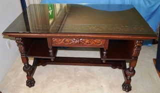 ORNATE LIBRAY TABLE/DESK