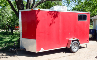 2013 Diamond Cargo enclosed trailer,