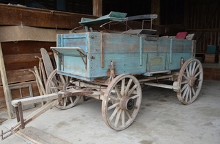 Antique box bed wagon