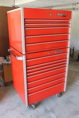 Snap-On Red Rolling Toolchest and Toolbox Model: KRL1051, KRL1056