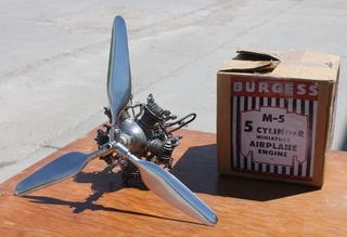 Morton / Burgess M-5 5 Cylinder Model Airplane Engine